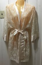 NEW Victoria's Secret Sexy Lace Sleep Robe Night Gown Gold One Size Fits All