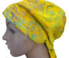 Cheerful Hand Dyed Batik Cancer Chemo Head Scarf Head Wrap Cover Hat Calypso 31