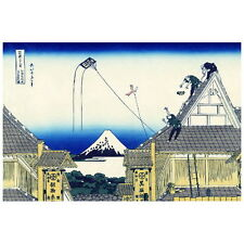 Sketch of the Mitsui Shop by Hokusai Deco FRIDGE MAGNET, Japanese Mt. Fuji Art