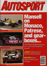 Autosport 9 May 1991 - Nigel Mansell, Monza WSC, Tour de Corse Rally, Zolder GM