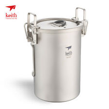 Keith 0.9L Titanium Pot Outdoor Camping Picnic Rice Cookware EDC Backpacker Pot