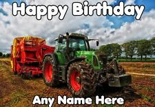 Tractor Happy Birthday codetr  A5 Personalised Greeting Card Son Dad granddad
