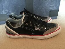 Umbro Oldham 40020U-CBX Black Gray Leather Athletic Shoes Sneakers Size 7.5