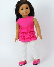 """Doll Clothes AG 18"""" Pants Capri Blouse Pink Made To Fit American Girl Dolls"""