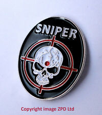 ZP252 Special Forces Sniper Skull Crosshair Army Military pin badge Gamer Rifle