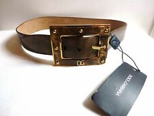 "DOLCE & GABBANA Women Brown Snake Skin Belt Italy 32 ""NWT Authentic"