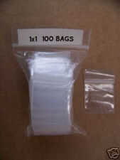PLASTIC BAG 1X1 nini zip lock clear small item poly 100