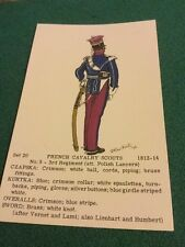 Old Post Card  Rene North French Cavalry Scouts Set 20 No 5