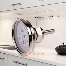 "1/2"" NPT Stainless Steel Thermometer Kitchen Moonshine Still Condenser Brew Pot"