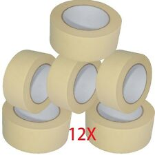 12X MASKING TAPE 50mm x50m EASY TEAR DECORATING PAINTING  Easy To Remove MASKING