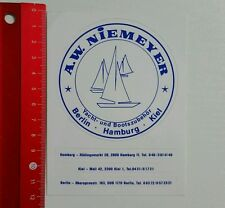 Pegatina/sticker: A.W. niemeyer-yate y accesorios de arranque (07051663)