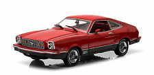 Greenlight 1976 Ford Mustang II Mach 1 Red & Black 1/18
