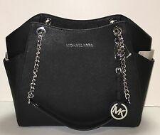 Michael Kors - Jet Set Travel Large Chain Leather Shoulder Tote Black Free Ship