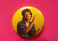 ROLLING STONES VINTAGE BUTTON BADGE PIN UK MADE MICK JAGGER