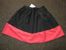 BNWT UK 8 TopShop Skirt Pink Black Colour Block full Skater Dress Up Party Work