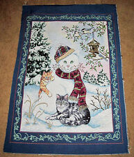 Paws For Christmas Cat Kittens Crafters Tapestry Wall Hanging Fabric Remnant