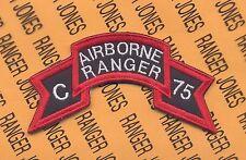 US Army C AIRBORNE RANGER 75 Vietnam LRRP LRP IFFV scroll patch