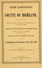 1878 HIGHLAND County Ohio OH, History and Genealogy Ancestry Family Tree DVD B14