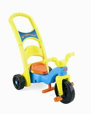 Fisher-Price Rock ROLL n RIDE KIDS TRIKE, 3 Stage TODDLER TRICYCLE, Yellow/Blue