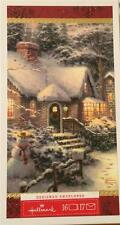 Hallmark Thomas Kinkade 16 Christmas Cards EVENING GLOW Snowman Winter Cottage