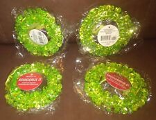 Light Green Sequin Wreath Gift, or Christmas Decoration - Set of 4