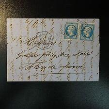 NAPOLÉON N°22 x2 SUR LETTRE COVER ETOILE N°24 AVEC CAD OCTOGONAL PARIS DS2 (60)