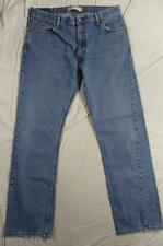 Levi 505 Straight Leg Zipper Fly Faded Denim Jeans Tag Size 36x34 Measure 36x33