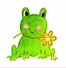 Sizzlits Frog with Flower Die #656350 Retail $4.99 Retired, RARE, sweet!
