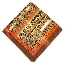 SCARF Large Square Ivory Tan Black Brown Chestnut Orange ANIMAL SPOTS