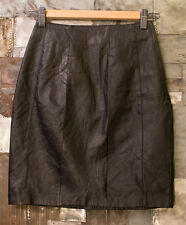 Jay Jacobs Leather Skirt Womens Black Size 3