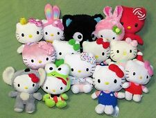 Hello Kitty PLUSH LOT of 14 Ty Sanrio Build A Bear Smallfrys BLACK CAT Stuffed