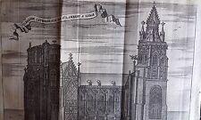 GRAVURE DELICES des PAYS BAS 1711 Cathédrale de St LAMBERT LIEGE BELGIQUE