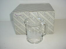 Set of 4 Toscany Crystal Collection Mugs Glasses Ships Sails Vintage New in Box