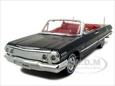 1963 CHEVROLET IMPALA CONVERTIBLE BLACK 1/24 DIECAST MODEL CAR BY WELLY 22434