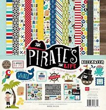 """Echo Park Collection Pirates Life Collection Kit 12""""x 12"""" Paper Pad Kids Sticker"""