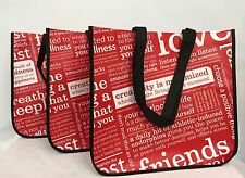3 Lululemon Large Reusable Shopping Tote Bags Manifesto