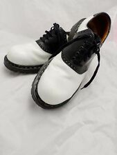 GRIPFAST made England black white leather oxfords brogues saddle shoes 9 8