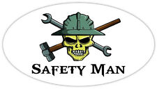 """Safety Man skull hard hat tools hammer wrench tool frac it sticker decal 6"""" x 3"""""""