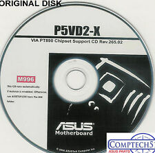 ASUS GENUINE VINTAGE ORIGINAL DISK FOR P5VD2-X Motherboard Drivers Disk M996
