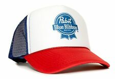 Pabst Blue Ribbon Beer PBR CURVED Bill Unisex Adult Truckers Hat Cap