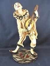 Clown Playing a Mandolin  Circus Collectible Figurine Home Decor