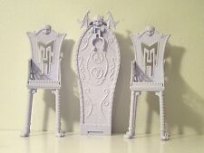 Monster High Doll Catacombs Play Set Furniture Replacement HIGH-BACK CHAIRS w/