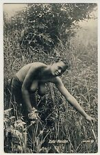S Africa BUSTY NUDE ZULU WOMAN / FRAU MIT NACKTER BRUST * Vintage 20s Ethnic PC