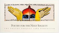 Francesco Clemente: Poetry Project Poster (with Allen Ginsberg), 1990. Signed.