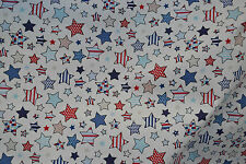 TWINKLE Nautical Blue 100% Cotton Lifestyle Fabric Fun Funky Stars Print Cheap
