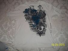 MEN'S X-LARGE XL White w/ design T-SHIRT BY RED CAMEL nwot LOOK BUY IT NOW