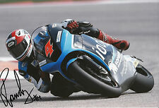 Randy Krummenacher Hand Signed Octo Ioda Racing Suter 12x8 Photo 2014 Moto2 1.