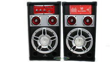 Powered Dual Home Audio Stereo Amplified Bluetooth Speaker System + SD USB FM