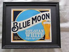 BLUE MOON BELGIAN WHITE  BEER SIGN  #1340