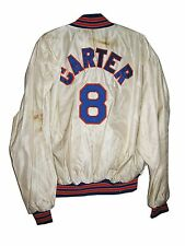 MLB GARY CARTER NY METS HAND SIGNED GAME WORN USED BASEBALL JACKET JERSEY W/COA